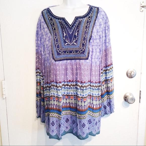 3cb6c27b8cbe9 Dress Barn Tops - DRESSBARN Plus Size Boho Embroidered Tunic Top